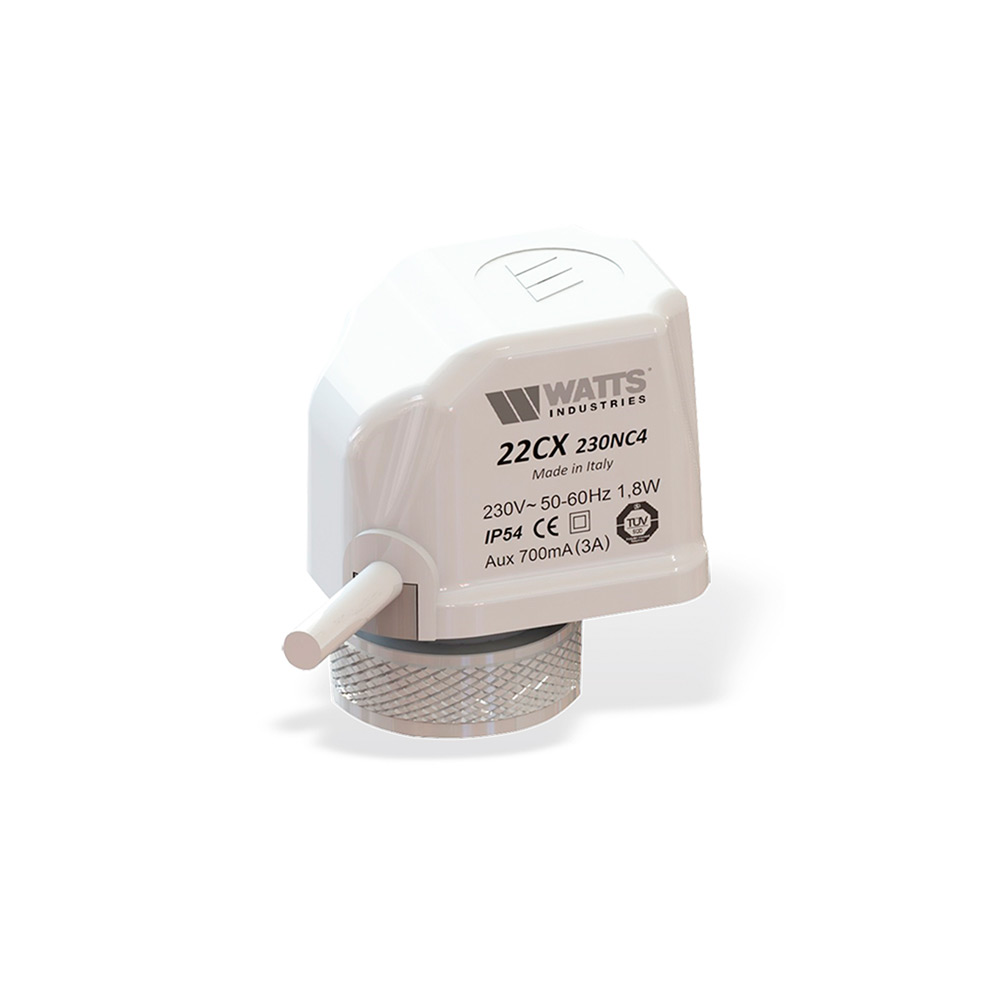 230 V, 22 CX, 230NC2, 1,8 W, 20 unidades Juego de actuadores para calefacci/ón por suelo radiante Watts