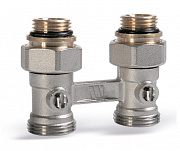 "Valve  for  compact  radiators  with  3/4"" M x 3/4"" swivel"